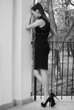 #monochrome #photography #fashion #classic #legs #highheels #model #beautiful #woman #girl #moda #dress #hotel