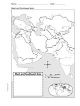 Map of West and Southwest Asia | CC Cycle 2 Week 23 | Asia map, Map ...