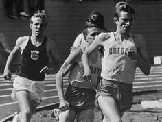 Oregon track athletes during a dual meet vs. Oregon State at Hayward Field 1968. From the 1968 Oregana (University of Oregon yearbook). www.CampusAttic.com
