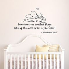 V&C Designs Winnie the Pooh Sometimes the Smallest Things Quote Children's Bedroom Kids Room Playroom Nursery Wall Sticker Wall Art Vinyl Wall Decal Wall Mural *Photo Updated December 2014*