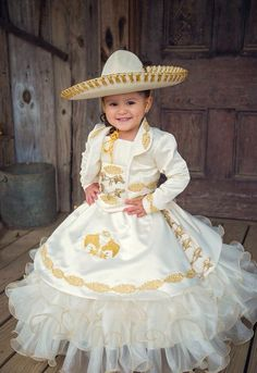 Everything you need to plan your quinceanera all in one place! Discounts from the best quinceanera dress shops, reception halls, photographers, and more! Mariachi Quinceanera Dress, Mexican Quinceanera Dresses, Mexican Dresses, Toddler Mexican Dress, Quince Dresses, 15 Dresses, Cute Dresses, Girls Dresses, Baptism Outfit