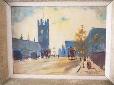 GREAT-SIGNED-MID-CENTURY-OIL-ON-CANVAS-BOARD-VICTORIA-TOWER-LONDON