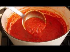 Food Wishes Recipes Tomato Sauce Recipe How to Make Tomato Sauce Dinner Pasta How To Make Tomato Sauce, Homemade Tomato Sauce, Tomato Sauce Recipe, Sauce Recipes, Easy Pasta Sauce, Spaghetti Sauce, Food Wishes, Italian Recipes, Food Videos