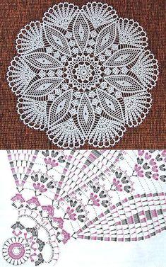 Most current Photographs Crochet Doilies uses Thoughts Çek dergisi YUVARLAK peçeteler. Motif Mandala Crochet, Free Crochet Doily Patterns, Crochet Doily Diagram, Filet Crochet, Diy Crochet, Crochet Designs, Crochet Crafts, Crochet Projects, Knitting Patterns