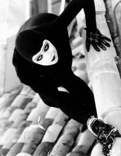 """Musidora as """"Irma Vep"""" (a femme fatale whose name is a suspicious anagram of """"vampire"""") in Les Vampires (1915), written and directed by Louis Feuillade."""
