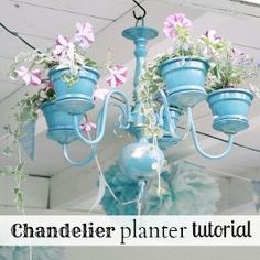 diy chandelier planter, flowers, gardening, repurposing upcycling, DIY chandelier planter