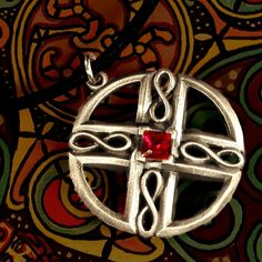 Celtic Sterling Silver Circular Pendant with by CelticEternity, $34.00