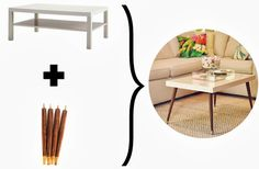 Ikea Lack Coffee Table Hack - DIY Mid-Century Modern Coffee Table by Triple Max Tons 3e-705401