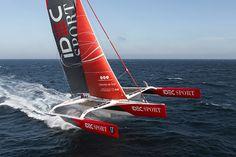 Idec Sport trimaran Joyon around the world sailing record