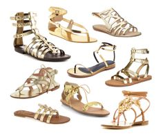 Our Favorite Gleaming Gladiators for Golden Goddesses | Fashion Trends Daily
