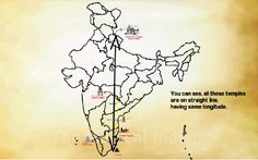"""""""Ancient Lord Shiva Temples Lie in Straight Line with Longitude (79.06° E), Beginning at Kedarnath and ending at Rameswaram. These temples were built using Yogic Calculations when there was no Satellite and Technology to measure Locations."""""""