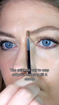 Eyebrow Makeup Tips, Makeup Eye Looks, Natural Eye Makeup, Natural Eyes, Beauty Makeup Tips, Contour Makeup, Skin Makeup, Beauty Skin, Natural Eyebrows