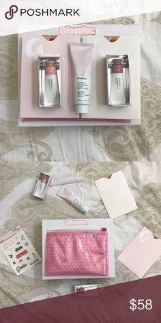 Glossier Bundle no trades! comes with two cloud paints in haze and dusk , one full size primer  all brand new with 1 pink glossier bag stickers glossier card and box Glossier Makeup