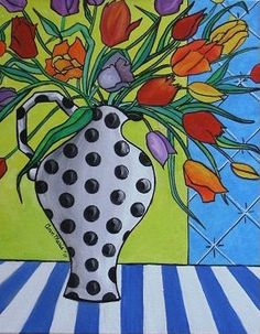 SOLD Modern Contemporary Abstract Folk Art by PaintingsAbstract on Etsy