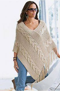 Cableknitponcho ,beautiful in it's simplicity