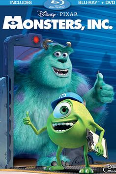 Scholastic 100 greatest movies for kids. Monster's Inc - Disney - Pixar - Pixar used to be only a million times better before - Childhood memories.