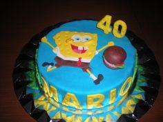 Celebró sus 40 años con una tarta de Bob Esponja!!