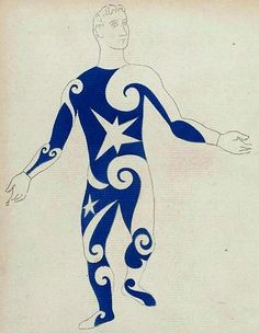 Pablo Picasso , costume design for an Acrobat in Parade , 1917 Picasso's first design collaboration for ( The Ballet Russes ) w...