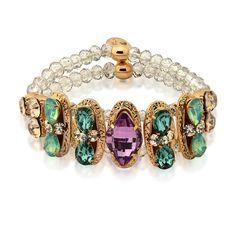 Iza Perobelli, marca expositora da Feira Bijoias. pulseira, pedraria, fashion jewelry, acessório, style, green, purple