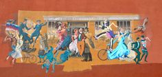 Street art commemorating British Columbia's 150th anniversary. Downtown Victoria