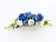 Kwiatowy grzebień do włosów - LolaWhite - Kwiaty do włosów
