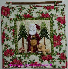 Janayna: patchwork lover!: Papai Noel de Pijamas e Teddy Bear: amei!