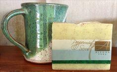 Alegna Soap® Peppermint Scrub soap and Sue Adler Pottery