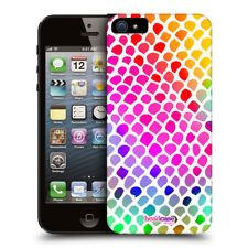 HEAD CASE RAINBOW SNAKE MAD PRINT DESIGN HARD BACK CASE COVER FOR APPLE iPHONE 5