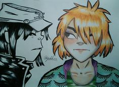 Gorillaz Noodle phase 2 and phase Happy Birthday Noodle :-) Gorillaz Noodle, Sketch Ideas, Phase 2, Happy Birthday, Instagram, Music, Anime, Fictional Characters, Amor