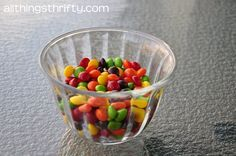 Skittles get to know you game... or keep on hand for a last minute kid's party game.