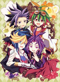 Yu-Gi-Oh! ArcV - Yuto, Yuya, Yugo, and Yuri