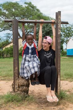 Liz Plank with one of the girls from our Girl Impact group African Impact, Volunteer Programs, African Nations, Victoria Falls, Our Girl, Countries Of The World, Plank, Equality, Gender