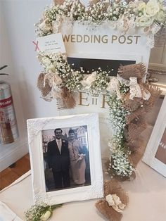 How elegant is this white wedding post box? Spotted at a wedding at The Rayleigh Club in Essex, a pretty white ER box like this is perfect if your décor is clean, minimal and classic