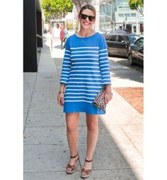 """Wild Thing  Animal prints are the latest """"new neutral,"""" so what better way to wear them than with stripes (last year's """"new neutral"""")? When teamed with easy wedges and classic shades, the two patterns feel harmonious, especially as the weather heats up."""