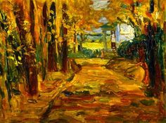 Vassily Kandinsky (1866-1944) - Park of St. Cloud - Autumn, 1906