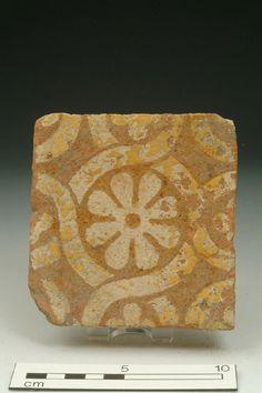 Floor tile Production Date: Late Medieval; Medieval Houses, Medieval Art, Medieval Pattern, Painting Tile Floors, Medieval Paintings, Art Ancien, Traditional Tile, Free Museums, Antique Tiles