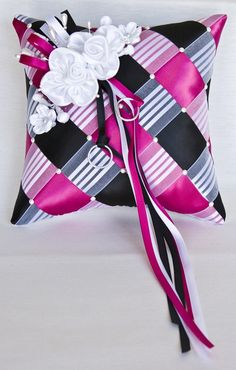 Wedding Ring Bearer Pillow Ribbon Weave with by SisiCreations, $50.00