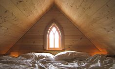 Cozy sleeping loft    There's not room to stand up in the 3-foot-9-inch-tall sleeping loft, but it can be a cozy and beautiful place to spend the night. This was Jay Shafer's favorite element of the first tiny house he built, he says.