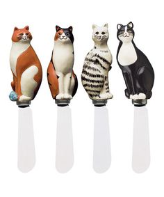 Take a look at this Cat Spreader Set by Boston Warehouse on #zulily today! $9 !!
