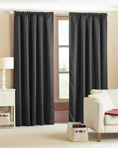 Black Pencil Pleat Curtains | Range of Black Pencil Pleat Curtains ...