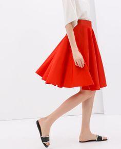 Image 3 of FLARED SKIRT from Zara