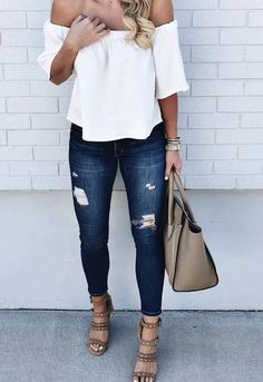 Cute Outfits Summer Women Casual Simple Street Styles - All our cute outfits come in a complete variety of sizes. The casual outfits are ideal for most Fashion Moda, Womens Fashion, Ladies Fashion, Denim Fashion, Fashion 2018, London Fashion, Street Fashion, Gq Fashion, Petite Fashion