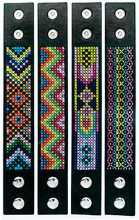 Cross-stitch cuff bracelet - by Craft & Creativity