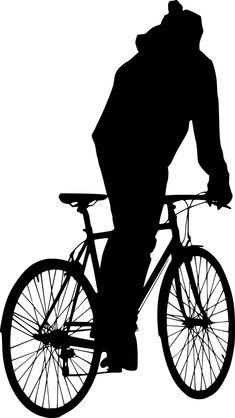 Σιλουέτα, Τροχός, Ποδηλάτης, Ποδήλατο, Κάθονται, Ενεργό