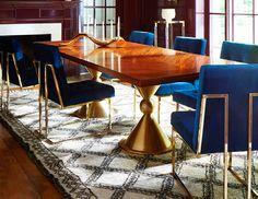 Mid Century Modern Dining Table, designed by Jonathan Adler.