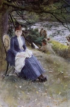 In Scotland (also known as Mrs. Symons)  Anders Zorn - 1887