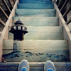 Mural on Stair Treads | Blended photography by Kyle Kuiper