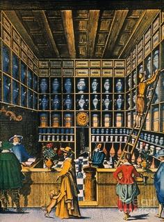 Parisian Pharmacy, 1624 Fine Art Print