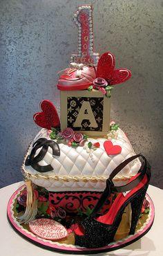 Designer 1st Birthday Chanel Cake!