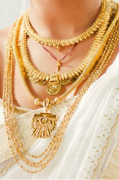 India Necklace gold gold alloy gemstone and cloth cord 19th